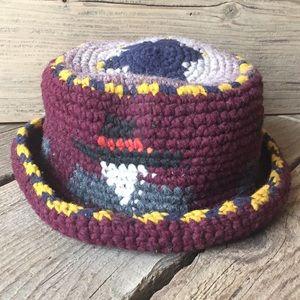 Vintage Accessories - VTG Handmade 100% Wool Ecuadorian Bucket Hat